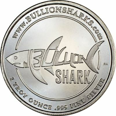 1 oz Silver Round .999 Fine - Bullion Shark Exclusive Design