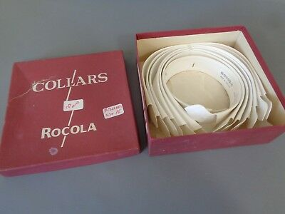 Box of SEVEN ROCOLA West End Horse Shoe Collars Stiff Detachable Size 15/16""