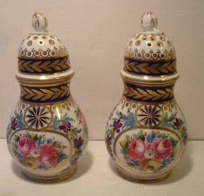Beautiful Sevres Style Hand Painted Cruet Set