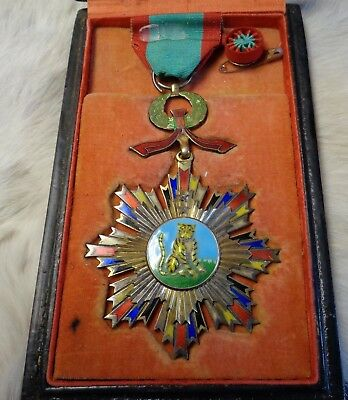 """Chinese Imperial Military Medal  """" Striped Tiger """""""