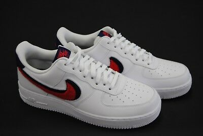 promo code 9e575 ee629 823511 106 New Mens Nike Air Force 1 07 Lv8 Chenille Swoosh White