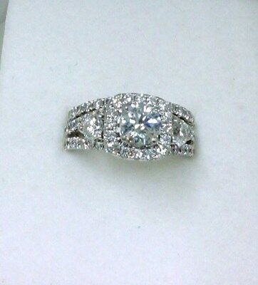 Jewelry & Watches Candid 2.00ct Round Diamond Changable Solitaire Engagement Ring 14k Real White Gold
