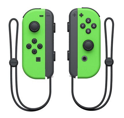 Joy Con (L/R) Wireless Controllers Nintendo Switch - Green/Green - Bulk Packing