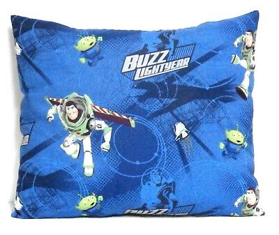 Buzz Light year Toddler Pillow on Blue Cotton BL12-5 New Handmade