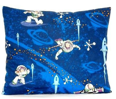 Buzz Light year Toddler Pillow on Blue Cotton BL8-11 New Handmade