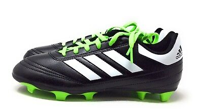 quality design 86a71 b4e11 Adidas Kids Goletto VI J Firm Ground Soccer Cleats Black Green Youth Size 4