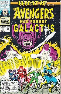 WHAT IF...AVENGERS HAD FOUGHT GALACTUS  #41 1992 52p  VALENTINO/ JANICE...VF/NM