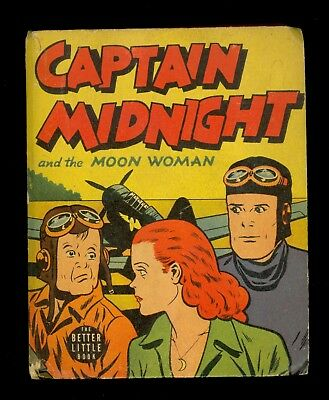 1943 Captain Midnight & the Moon Woman Big/Better Little Book #1452 - FN