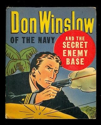 1943 Don Winslow of the Navy & Secret Enemy Base Big/Better Little Book #1453 VF