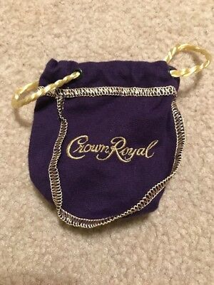 "Crown Royal Bag - Purple and Gold- ""New"" 50ml Set Of TEN"