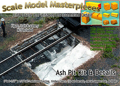 Ash Pit Kit Roundhouse/Engine Shed-YORKE/Scale Model Masterpieces Sn2/Sn2.5/Sn3