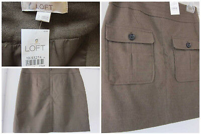 ANN TAYLOR LOFT OLIVE GREEN LINED SKIRT Size 2 New