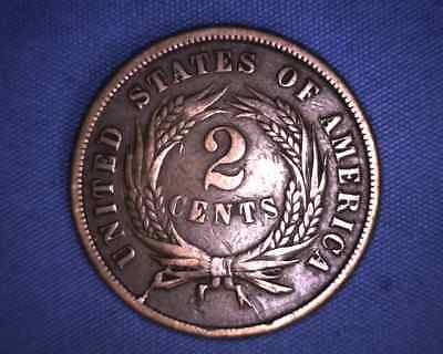 United States 1864 Two Cent Piece - 2 Cent USA - You Grade It!