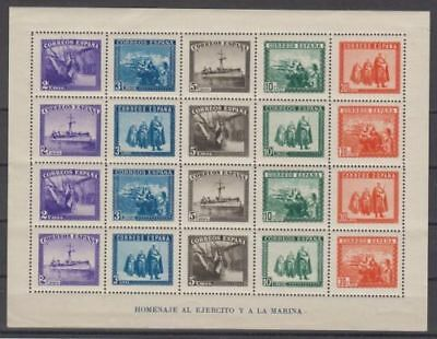 Spain (1938) New Hb Without Stamp Hinges Mnh Spain - Edifil 849 Army And Marina
