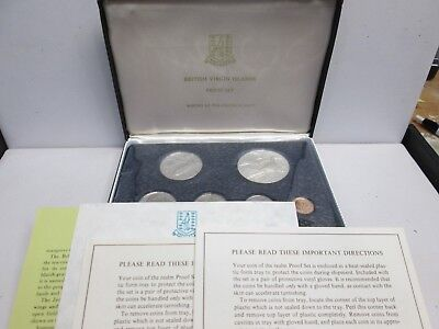 1974 British Virgin Islands Proof Set With Box & Coa