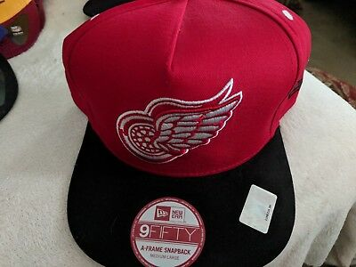 bbfaaa5abe2 New Era 9fifty Detroit Red Wings Black A-FRAME Snapback Hat Cap FREE  SHIPPING