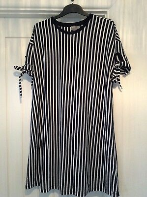 ASOS Maternity Striped Navy and White Dress Size 14