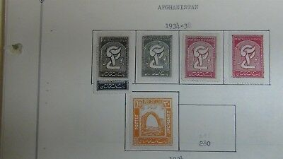 Afghanistan Stamp collection on Scott Int'l pages '34- 2004 w/ 485 stamps