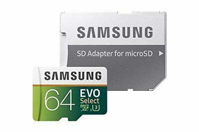 Samsung 64GB 100MB/s (U3) MicroSDXC EVO Select Memory Card with Adapter (M..