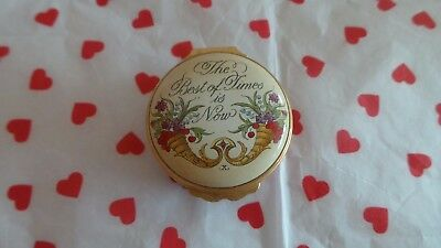 Halcyon Days Enamel Box~ 'The Best Of Times Is Now'