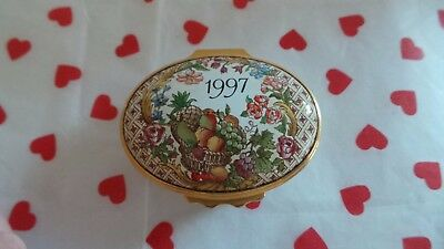 Halcyon Days Enamel Box ~ 'A Year To Remember ~ 1997'
