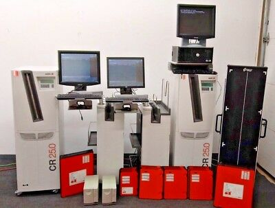AGFA CR 25.0 Lot with NX Workstations and X-Ray Cassettes