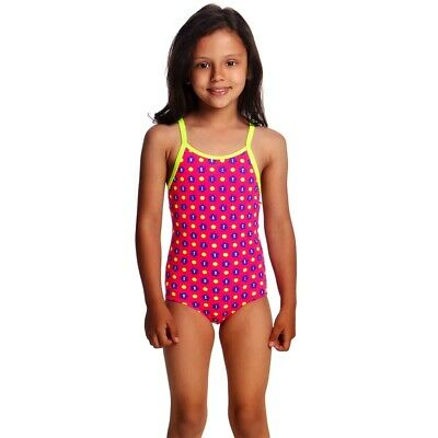 Funkita Daisy Dots Toddler Girls Printed One Piece , Toddler Girls One Piece Swi
