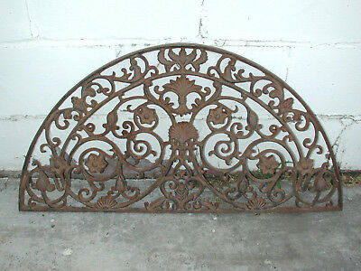 Large Antique Victorian Arch Shaped Cast Iron Outdoor Grate