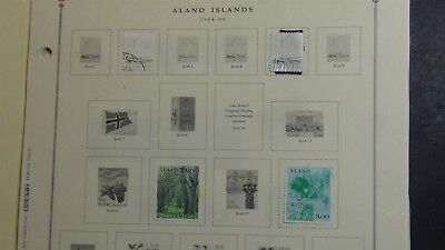 Aland stamp collection on Scott Int'l pages '84- 2009 w/ 26 stamps