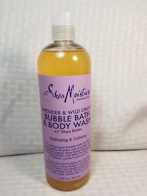 Shea Moisture Lavender & Wild Orchid, Bubble Bath & Body Wash 16 Fl. oz