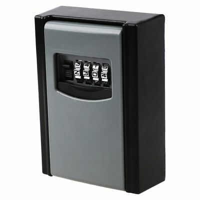 Weather Resistant 4 Digit Wall Mounted Outdoor Key Safe Box Lock Locker Sto K6Y0