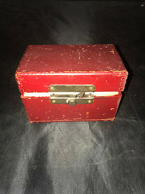 vintage punch hole wooden box.  1-10-2018