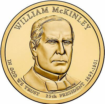 2013 William McKinley Presidential Dollar Coin Philadelphia Mint Unc.