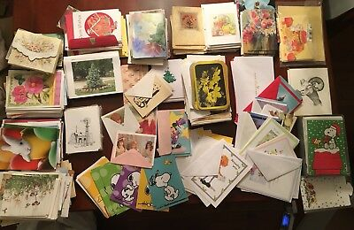 Huge Lot of 615 Greeting Cards Mixed Lot Unused New