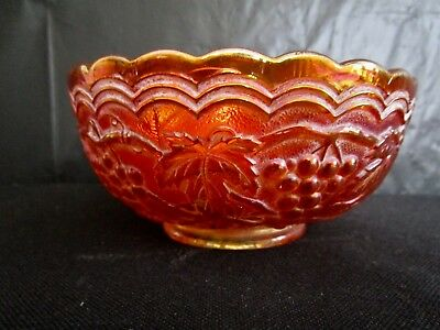 Scarce  Old  Carnival Glass  Imperial Grape  Berry Bowl