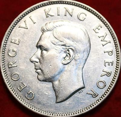 1941 New Zealand 1/2 Crown Silver Foreign Coin