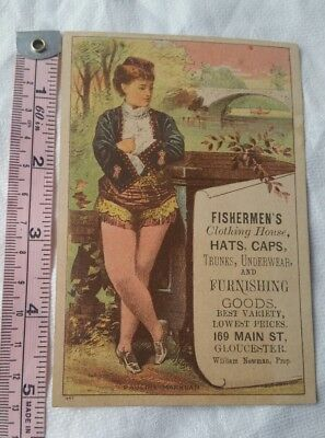Vintage Advertising Card Retro Early Collectable Fishermen's Clothing House