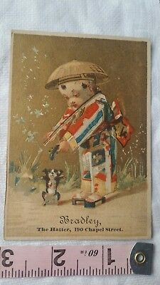 Vintage Advertising Card Retro Early Collectable Bradley The Hatter