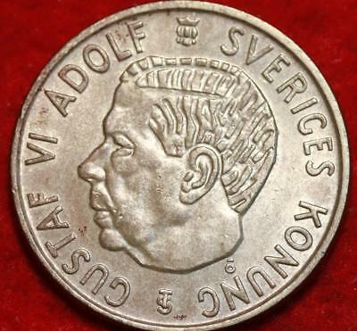 1955 Sweden 2 Kronor Silver Foreign Coin
