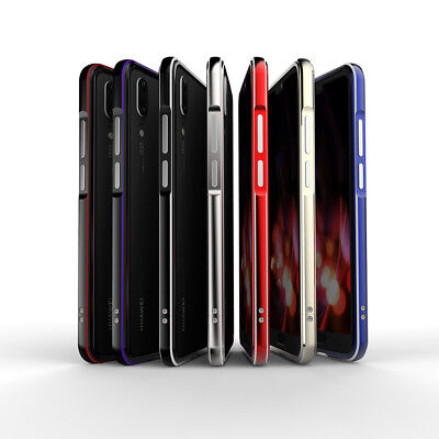 For HUAWEI P20 Pro Luxury Aluminum Metal Bumper Frame Case Cover UK