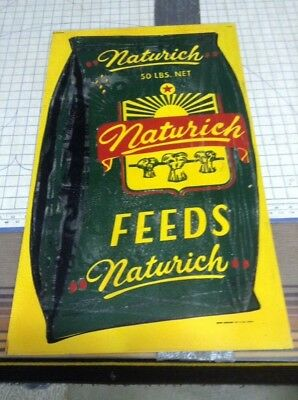 "Naturich Feeds Metal Sign. 30"" By 18"""