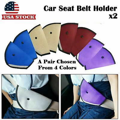 2xSeat Safety Belt Holder Comfort Belt Adjuster Seat Belt Cover Child Protection