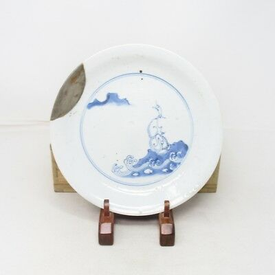 B873: Rare Japanese plate of really old SHOKI IMARI porcelain w/appropriate work