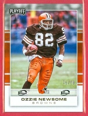 2017 PLAYOFF (FB) Ozzie Newsome SP 1st DOWN PARALLEL Card (#119) #d 75/99 HOF'er
