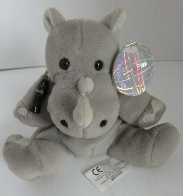 1999 Coca-Cola Coke Bean Bag Plush Rhiny Rhinoceros                (Inv18295)