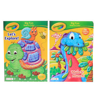 Crayola Kids Big Fun Coloring Book 96 Pages Childrens Art Supplies (2 Styles)