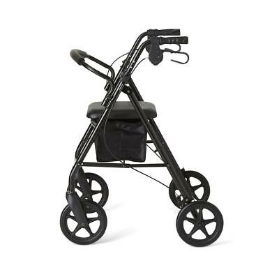 NEW Rollator Walker Adult Senior with 4 Wheel 7.5'' Casters in BLACK NEW!