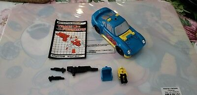Transformers G1 Nightbeat, 100% complete with instructions, loose