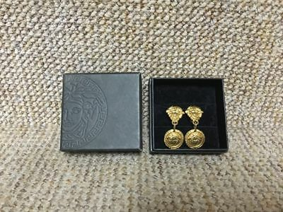 52b026a7b4 rare! 100% authentic Gianni Versace medusa clip on earrings made in italy