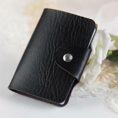 PU Leather Cards Business Name ID Credit Card Holder Book Case Keeper Organizer;